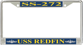USS Redfin SS-272 License Plate Frame