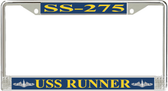 USS Runner SS-275 License Plate Frame