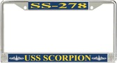 USS Scorpion SS-278 License Plate Frame