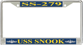 USS Snook SS-279 License Plate Frame