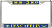 USS Capelin SS-289 License Plate Frame