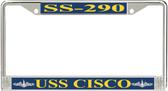 USS Cisco SS-290 License Plate Frame