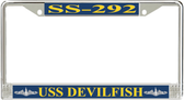 USS Devilfish SS-292 License Plate Frame