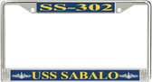 USS Sabalo SS-302 License Plate Frame