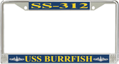 USS Burrfish SS-312 License Plate Frame