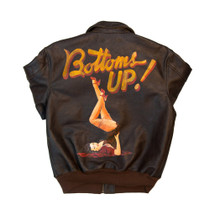 Cockpit USA 40th Anniversary Bottoms Up A-2 Pinup Jacket