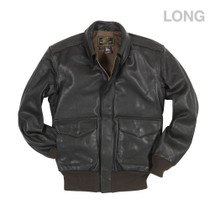 Cockpit USA U.S.A.F. 21st. Century A-2 Jacket Brown (Long) USA Made