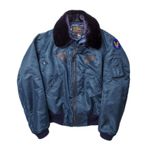 Cockpit USA B-15 Nylon Jacket AF Blue, Olive, USA Made
