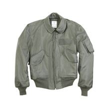 Alpha Industries CWU 45/P Nomex Mil Spec Flight Jacket Sage Green USA Made