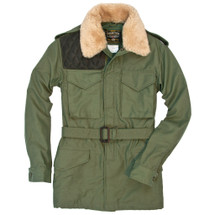 Cockpit USA Long Range Field Jacket Olive With Removable Mouton Fur Collar USA Made be warm and cool at empire tactical gear