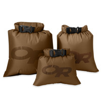 Outdoor Research Dry Ditty Sacks Set of 3 Coyote Brown waterproof storage
