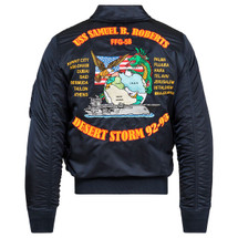Alpha Industries CWU/45 P Storm Cruiser Flight Jacket Replica Blue