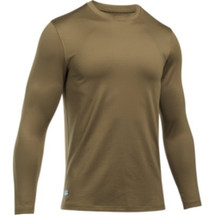 UA Coldgear Infrared Tactical Crew Long Sleeve Coyote Brown