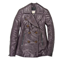 Cockpit USA Women's Carrier Leather Peacoat Bordeaux USA Made