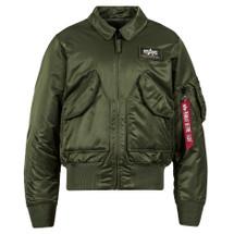 Alpha Industries CWU 45/P Flight Jacket Sage Green Military, Tactical, USAF