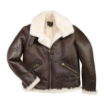 Cockpit USA B-9 Sheepskin Jacket Brown USA Made