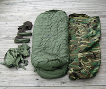 EXTREME COLD WEATHER SLEEP SYSTEM WOODLAND, OLIVE DRAB, US MILITARY ISSUE