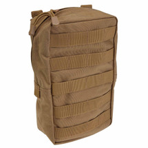 5.11 Tactical 6.10 Vertical Pouch Flat Dark Earth (FDE) Molle, Slick Stick