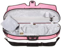 Bobelock Puffy Half Moon Violin Case - 4/4 Pink