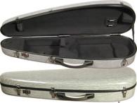 Core Fiberglass Violin Case - Shaped Crescent Gray Grain - 4/4