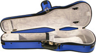 Bobelock Puffy Shaped Violin Case  comes in Blue/Gray, Purple/Gray, Red/Gray, Sky Blue/Gray, Pink/Gray