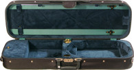 Bobelock Oblong Violin Case with Suspension - Velour - Green