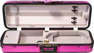 Bobelock Featherlite Puffy Oblong Violin Case - Purple/Gray