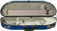 Bobelock Fiberglass Moon Violin Case - Velvet - Blue/Gray