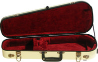 Bobelock Fiberglass Violin Shipping Case - Ivory/Wine