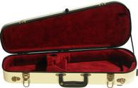 Bobelock Fiberglass Violin Shipping Case - Ivory/Wine