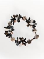 Black White Mix Cluster Bracelet