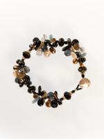 Black Brown Mix Cluster Bracelet