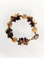 Brown Mix Cluster Bracelet
