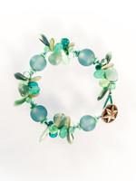 Sky Blue Mix Resin Cluster Bracelet