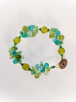 Lime Green Mix Resin Cluster Bracelet