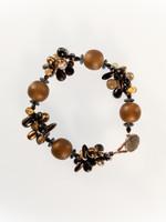 Topaz Mix Resin Cluster Bracelet
