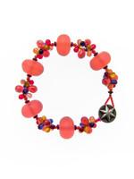 Red Mix Resin Cluster Bracelet