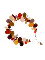 Reds, Browns, & Yellow Tears and Spears Bracelet