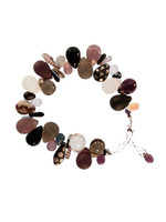 Black, White, Burgundy, & Gray Tears and Spears Bracelet