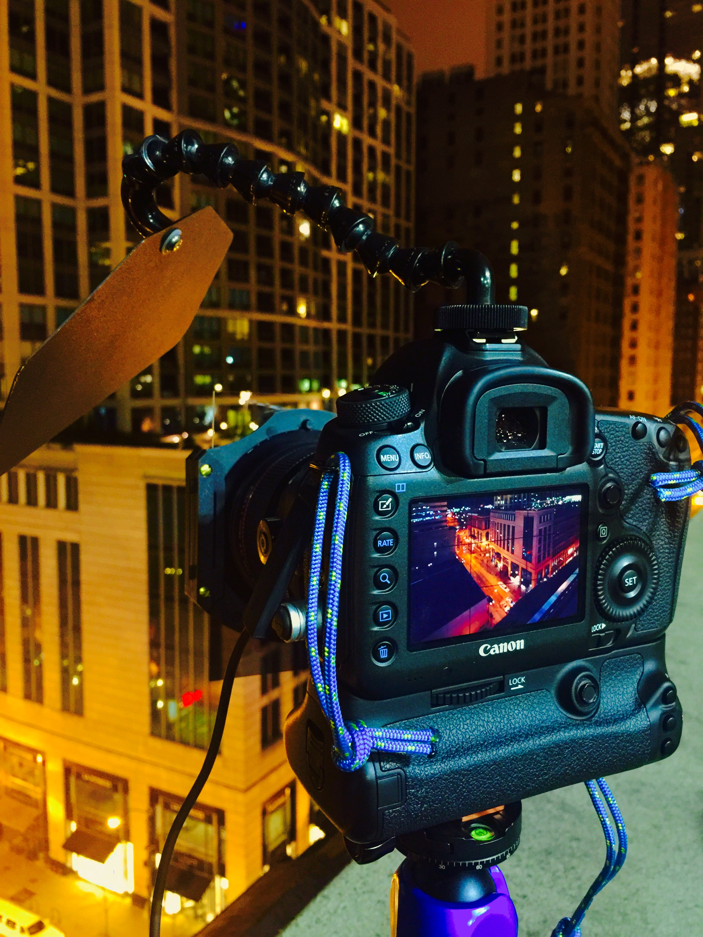 COMPACT lens shade, Marcus Bowen, Chicago night shoot