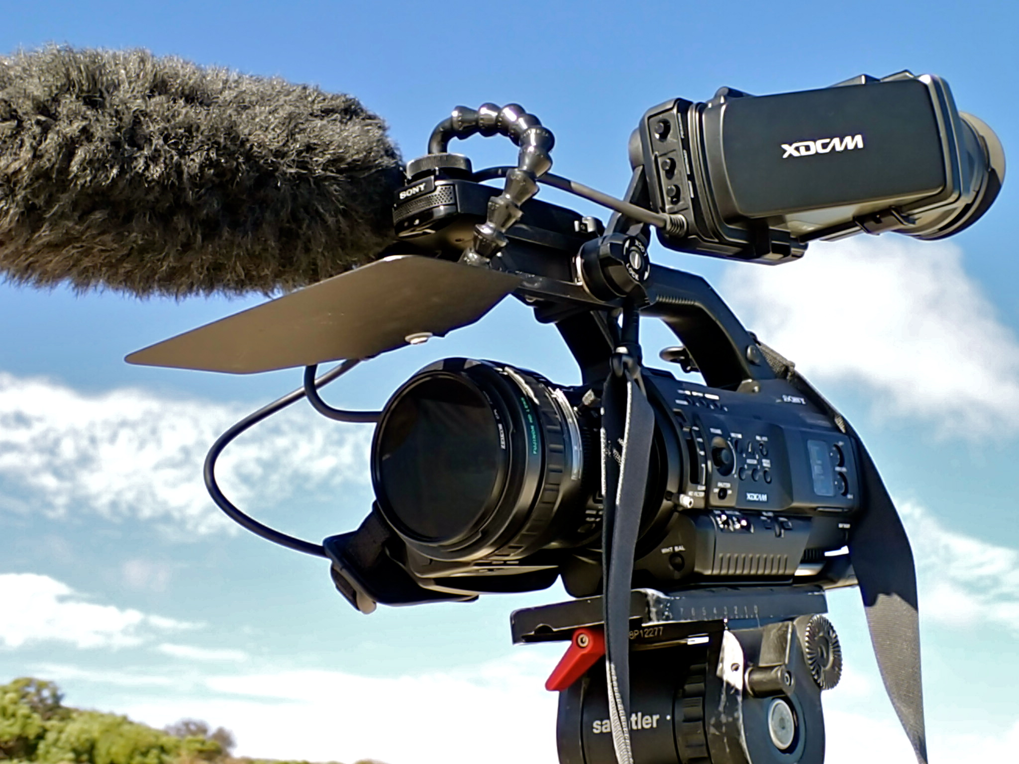 COMPACT lens shade, video camera setup