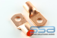 1/0 AWG Copper Lugs 10 Pack w/heat shrink - Sky High Car Audio