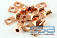 8 AWG Copper Lugs 10 Pack w/heat shrink - Sky High Car Audio
