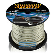 Sundown Audio 4 AWG OFC Silver 100ft Power Cable Spool