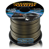 Sundown Audio 8 AWG OFC Black 250ft Power Cable Spool