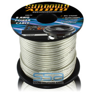 Sundown Audio 8 AWG OFC Silver 250ft Power Cable Spool
