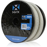 NVX XW0WH50 0 Gauge: 50 Ft Frosted White Power /Ground Wire