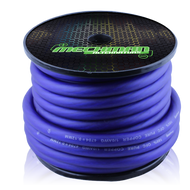 1/0 gauge OFC power cable - 50 foot spool - Blue