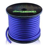 4 gauge OFC pure copper power cable - 100 foot spool - Blue