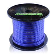 10 gauge Heavy Duty Pure Copper OFC speaker wire - 100 foot spool - Blue